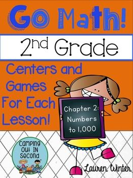 Second Grade Go Math Centers and Games: Chapter 2                                                                                                                                                                                 More