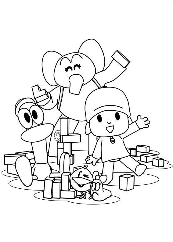 45 best pocoyo images on Pinterest Events Drawings and Coloring