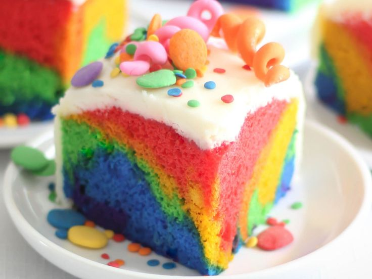 Tie-Dyed Birthday Cake : Tie-dyed birthday cake will always be welcome at a party. To make this single-layer cake, you