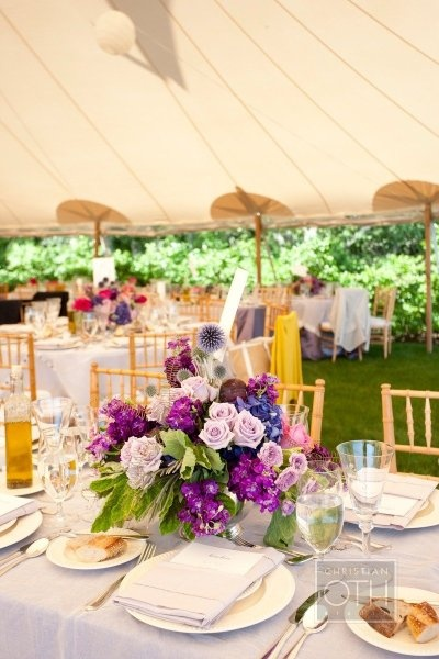 wedding centerpieceOutdoor Wedding, Flower Centerpieces, Christianothstudio Com, Wedding Reception, Christian Oth, Bridesmaid Bouquets, Wedding Centerpieces, Pretty Flower, Purple Flower
