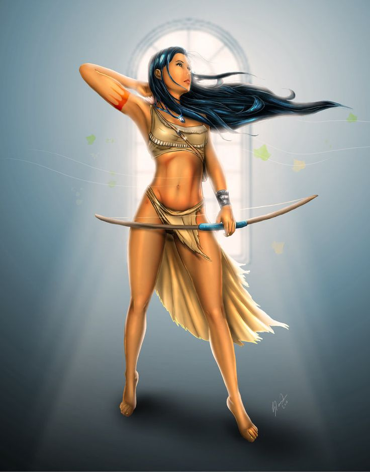 Pocahontas - My favorite Disney female character, mainly because she looks so healthy:) Hubbys favorite too ;)