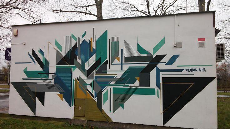 Gdansk Zaspa, Poland, graffiti