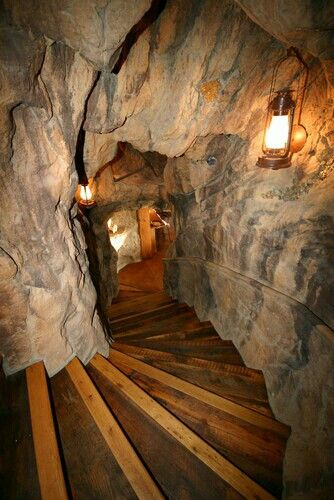 Sara wants us to do the steps leading to the basement like - Man cave ideas for basement ...