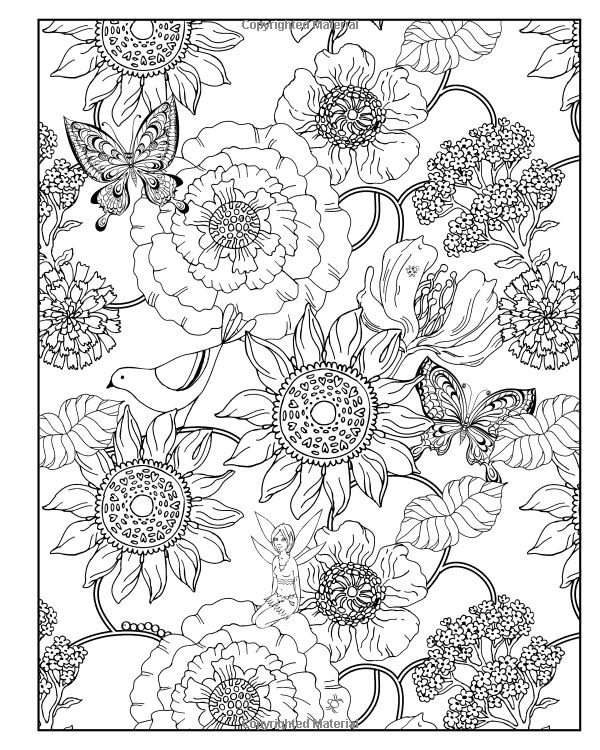 17 best images about colouring pages flowers on for Treasure hunt coloring pages
