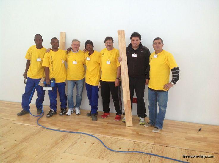 SEICOM Parquet per palestre e pavimentazione per palestre elastiche multi-sport omologati FIBA: Nuova importante installazione in SUDAFRICA