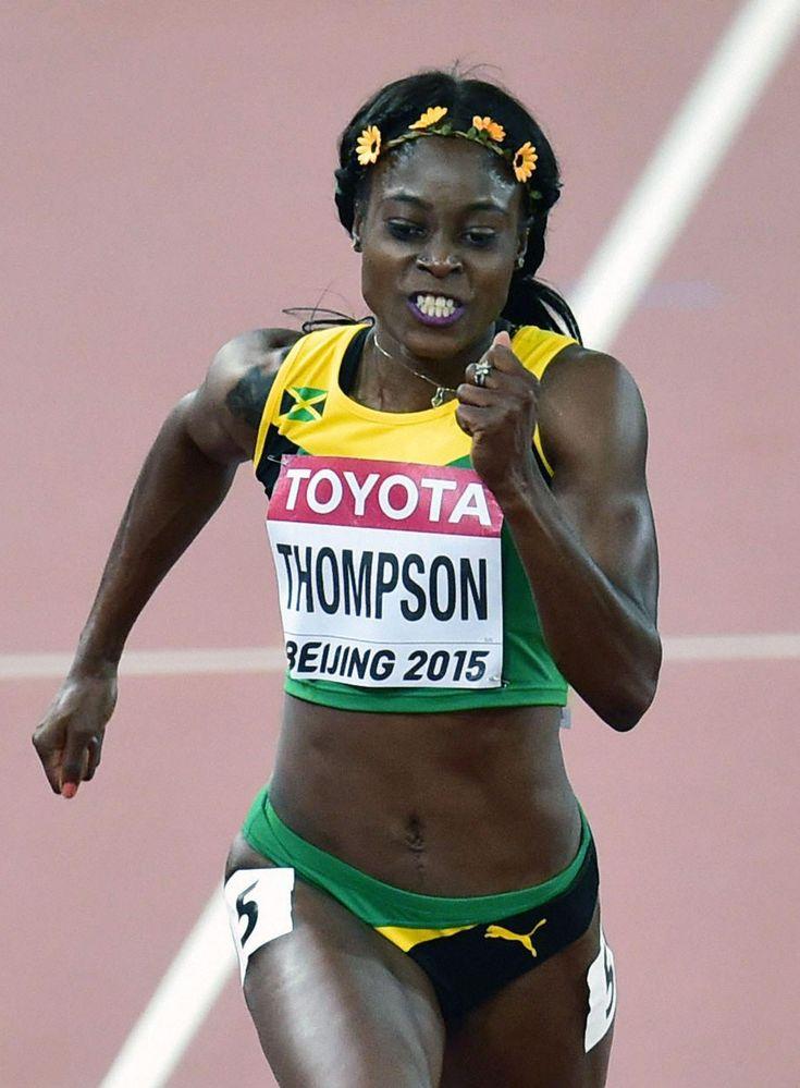 ジャマイカのエレイン・トンプソン(2015年8月27日撮影) / 女子200に注目/ダイヤモンドリーグ第3戦展望 #女子 #陸上