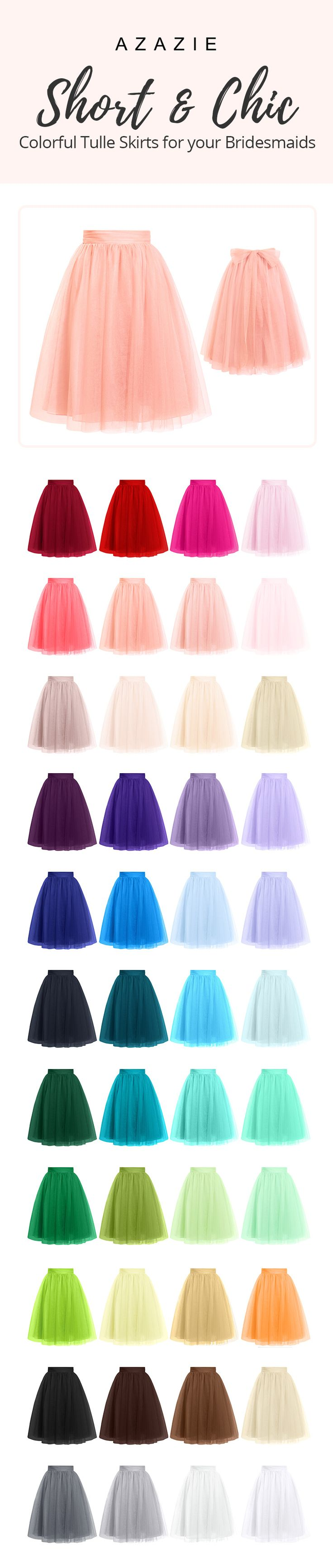 Twirl the night away in our fun & chic tulle skirts! Perfect for any party or outdoor wedding, our Sylvie can be paired with any top, so you can rewear it again, and again!