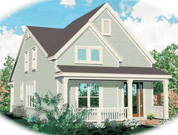 Charming Front Porch On This 3 Bedroom Cottage Style Home