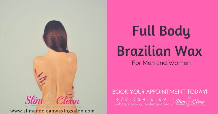 Try our FULL BODY BRAZILIAN WAX (For Men and Women)  Our wax is made of all natural ingredients to remove unwanted body hair safely and gently. Visit us at Slim and Clean Waxing Salon and treat yourself to a full body wax today!  Appointments available this Week. Book Now! 🌐 www.slimandcleanwaxingsalon.com ☎️ 678-324-6169 🔎 2635 Sandy Plains Rd.Suite 105 Marietta, GA 30066 #brazilianwax #brazilianwaxsalon #beauty #sugaring #waxing #sugarwax #healthyskin #massage #massagesalon  #bodycare