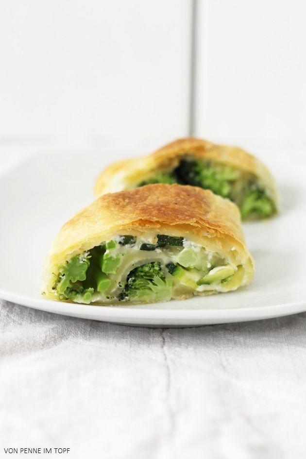 Brokkoli - Zucchini - Blätterteig - Strudel