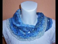 "Sommerloop - Loop ""blaue Lagune"" - Möbius Schal  - Skarf - Tuch - Summer - häkeln - crochet"