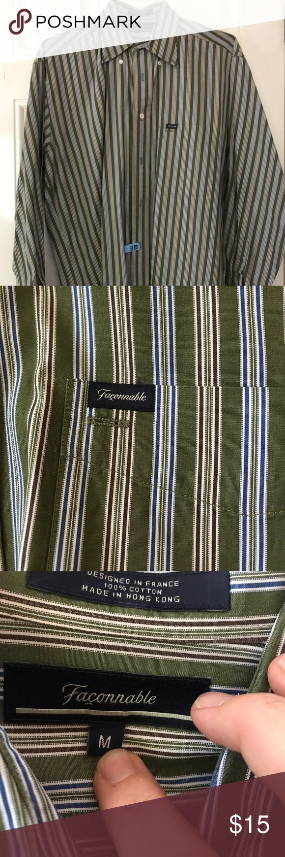 Faconnable long sleeve green , blue and maroon Very good condition faconnable Shirts Dress Shirts