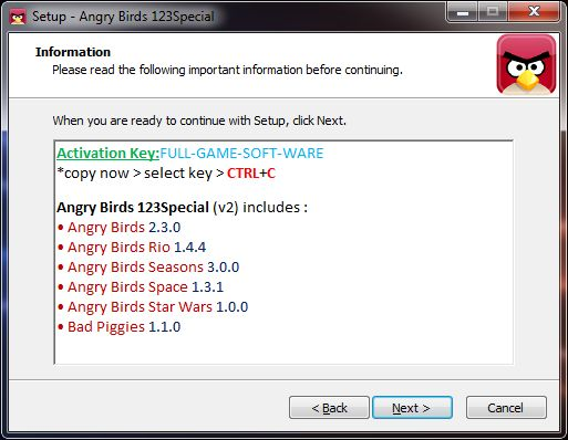 Angry Birds Rovio Activation Key Free Download 89