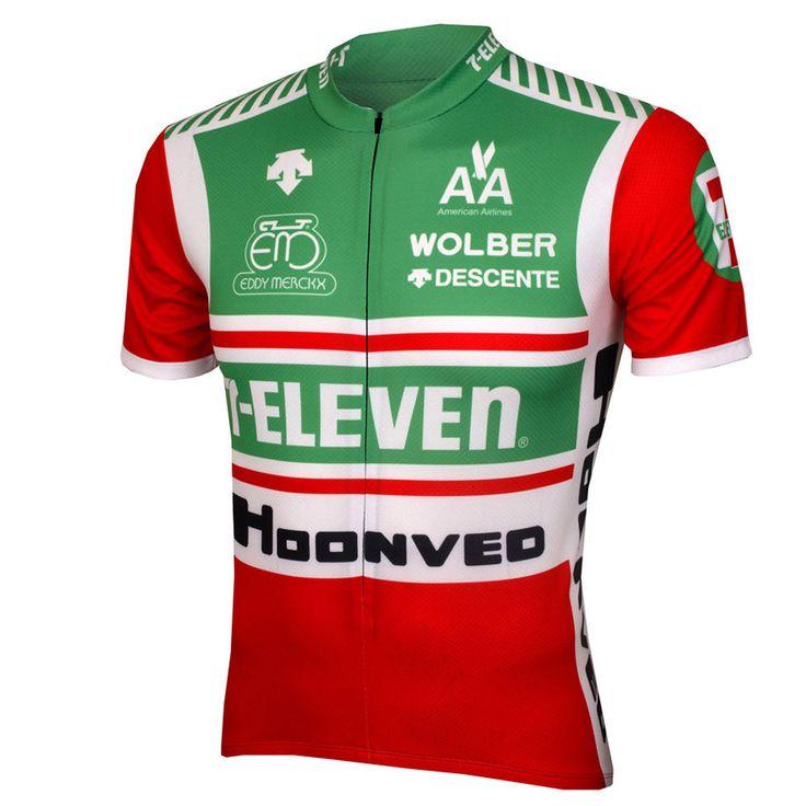 Men cycling jersey green short-sleeve cycling clothing seven eleven bike wear summer de bicycle clothing la mtb/road bike wear //Price: $33.95 & FREE Shipping //     #hashtag4