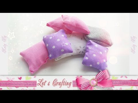 Подушки для кукол без шитья / How to make a pillow for dolls without sewing - YouTube