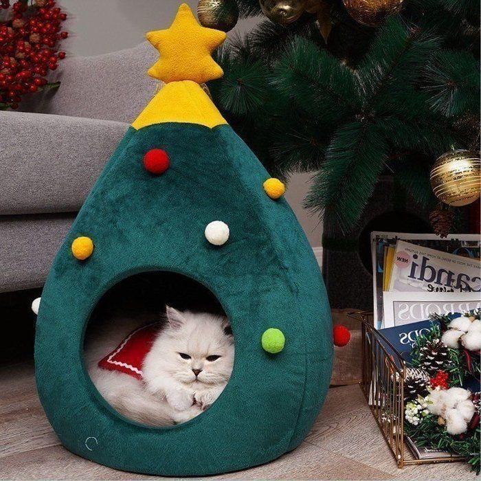 クリスマスにも セレクトショップの猫ベッドがかわいすぎ ねこのきもちweb Magazine クリスマス 動物 小さなクリスマスツリー 猫 ハウス