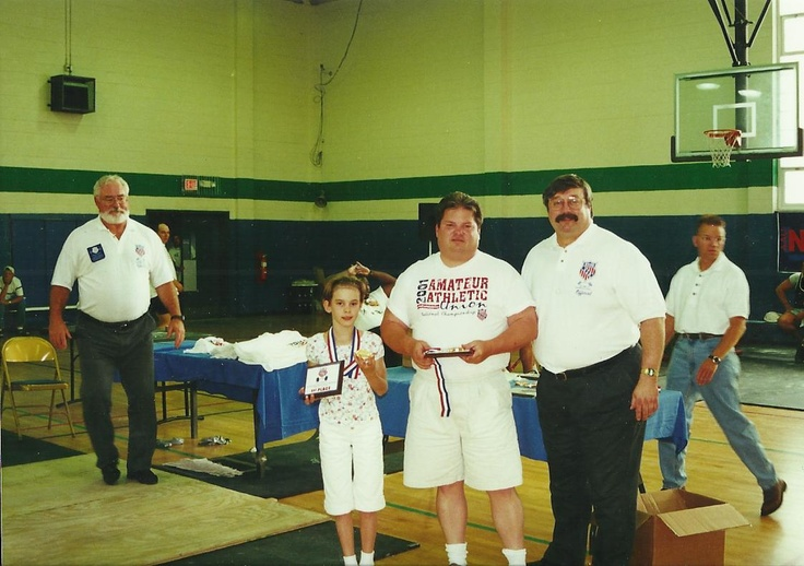 Me and my dad after winning AAU Nationals I was 9 yrs old.