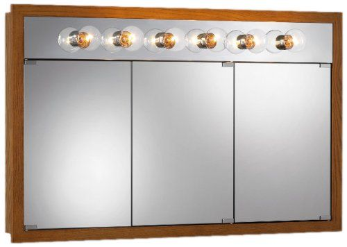 Jensen Medicine Cabinet Granville Tri-View x in. Surface Mount Medicine  Cabinet - At 4 feet wide, the Jensen Medicine