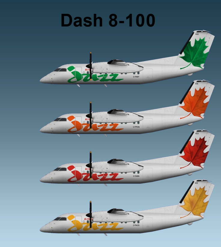 Air Canada Jazz Dash 8-100