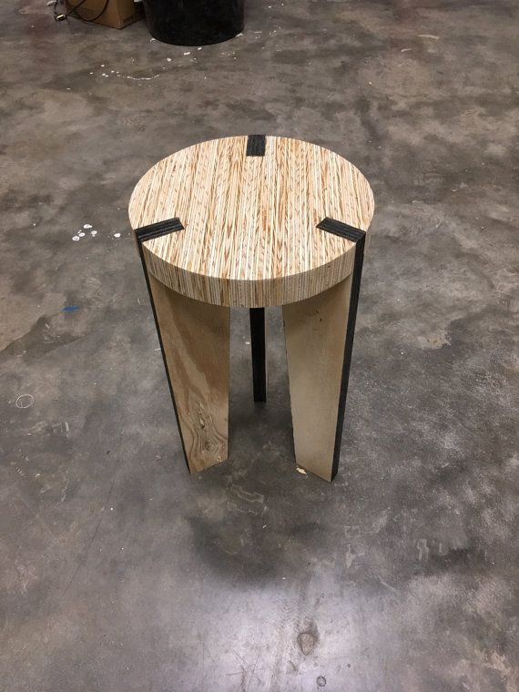 Strati Stool Handmade Modern Plywood Stool By ScalesandModels
