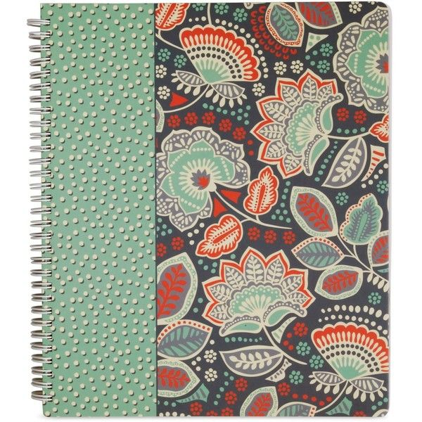 Vera Bradley Notebook with Pocket in Nomadic Floral ($14) ❤ liked on Polyvore featuring home, home decor, stationery and nomadic floral