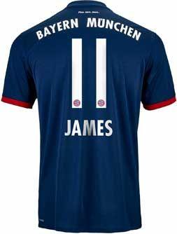 c07fa87400f adidas Kids James Rodriguez Bayern Munich Away Jersey 2017-18 |  SoccerMaster.com