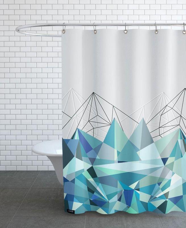 Colorflash 3 Turquoise en Rideau de douche par Mareike Böhmer | JUNIQE