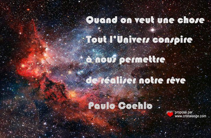 Rêvez Créez grâce à la loi de l'attraction! Une belle citation de P. Coehlo