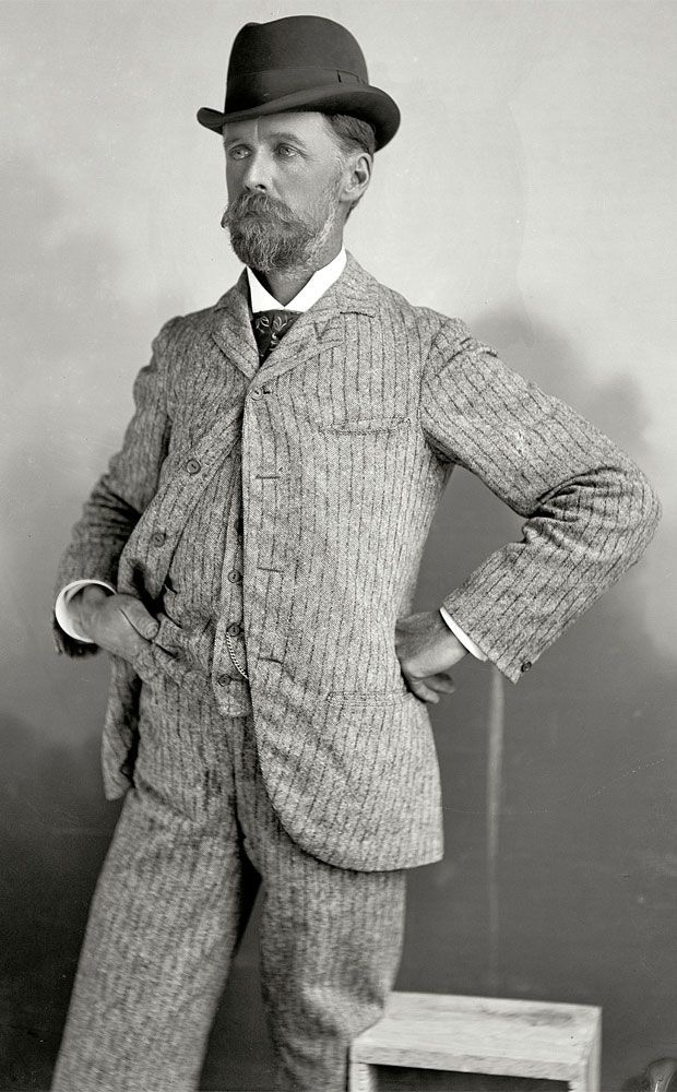 Vintage Men's suit 1890s, How could you not look the Bomb in that? #menssuitsvintage