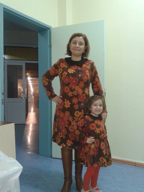 Anne ve kızı mother and girl dress