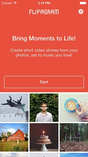 Flipagram is a tool to make a short video (15/30 sec) from photos with music or recording your voice.