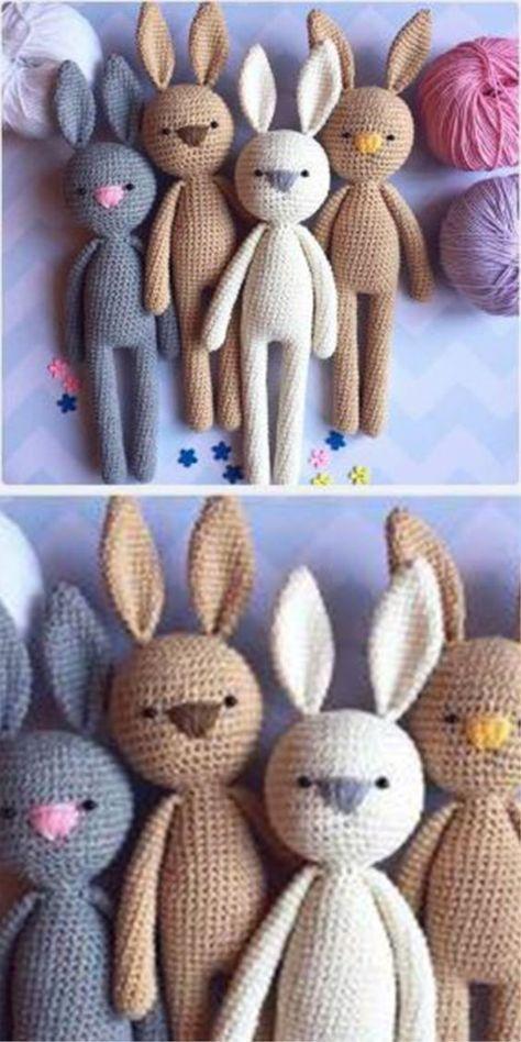 Amigurumi Bunnies – Free pattern  #amigurumi #crochet #knitting #amigurumi patte…