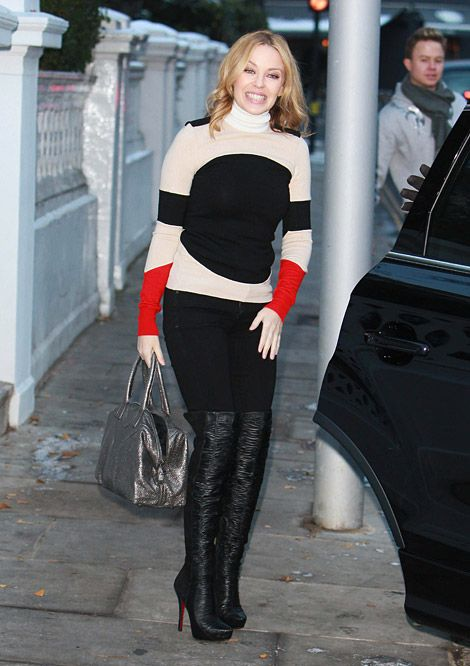 Kylie Minogue in Christian Louboutin Over The Knee Boots   rien ...
