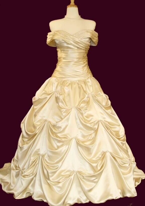 65 best images about beauty and the beast wedding ideas on for Wedding dress like belle from beauty and the beast