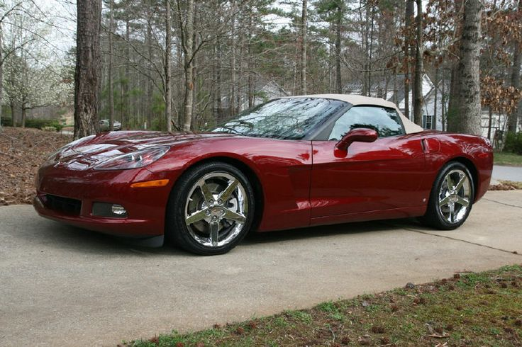2006 Corvette Convertible in Monterey Red