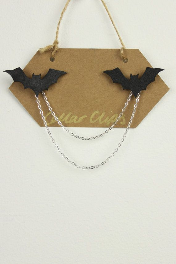 Collar Clips Bats by AnEnglishGarden on Etsy