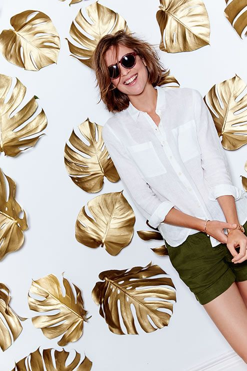 Welcome to the Boden Trend Edit - your guide to our top summer pieces in breezy fabrics. Think khaki and neutral colours and pieces to take you from office to cocktail in style. Note our Lottie Linen Shorts together with The Linen Shirt for the perfect pairing.