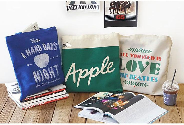 Beatles Eco-friendly Cotton Bag made by Aladin Apple A Hard Day Night AYNIL