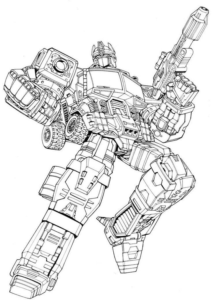 Kolorowanki Optimus Prime Transformers Autoboty Malowanka Dla