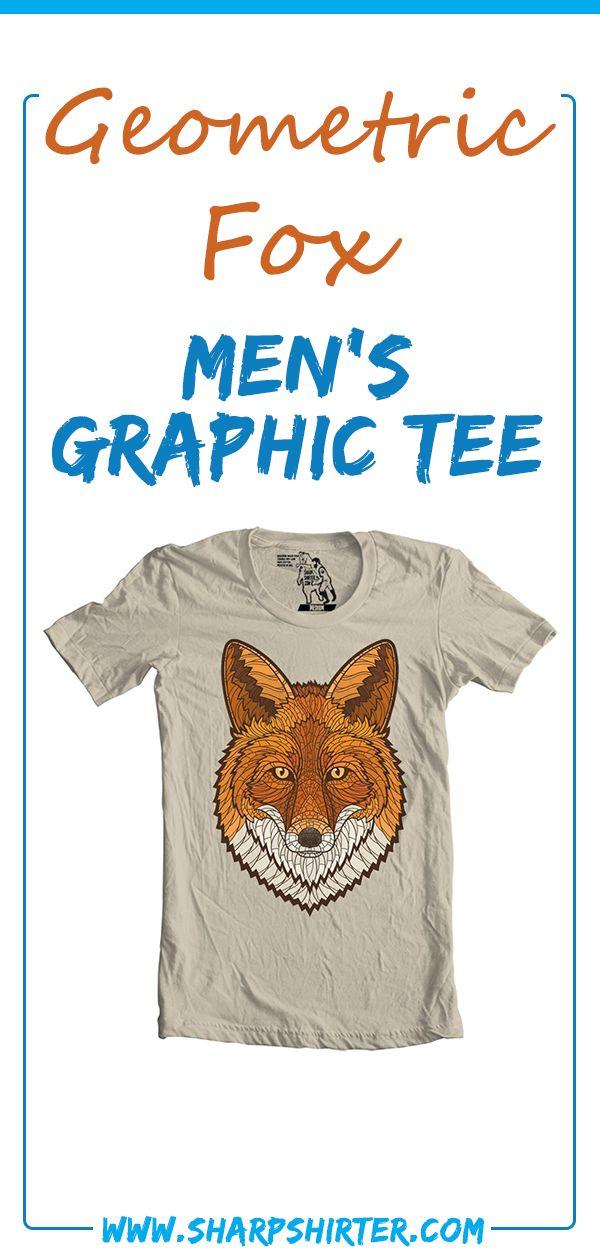 d419d989338 Geometric Fox Men s Graphic Tee tee shirt diy