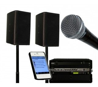 IPLAY SOUND SYSTEM WITH PRO DJ SPEAKERS