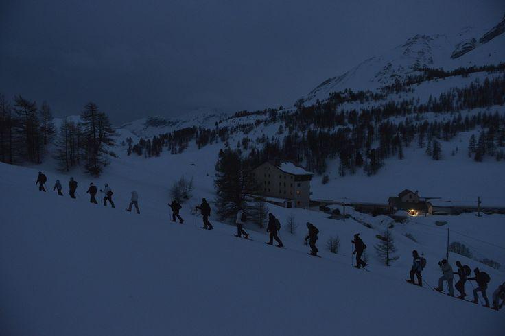 #Queyras Ciaspolata notturna sotto le stelle #montagna #neve #inverno