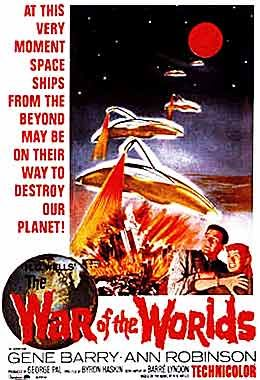 1953 film 'War of the Worlds' - the first adaptation of the novel by H. G. Wells.  This and the 2005 Spielberg movie are my favorites (of the many remakes).