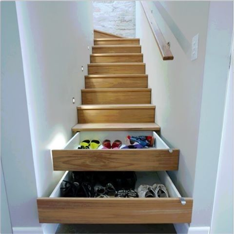 Under stairs storage design idea!