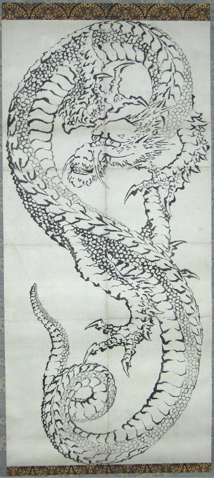 Hokusai Dragon.  It comes from the mist, and not from fire.