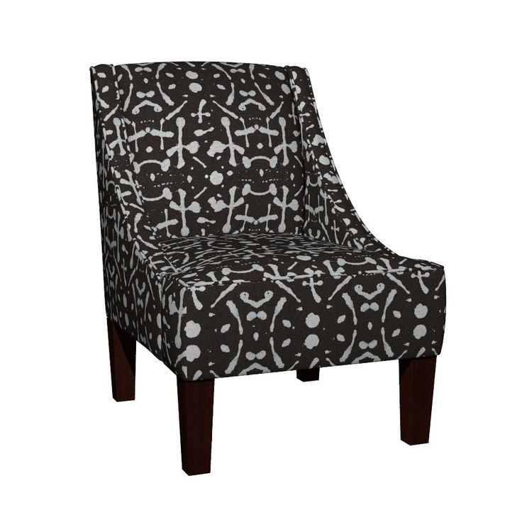 Venda Sloped Arm Chair featuring Mudcloth  (chocolate) by mariden   Roostery Home Decor