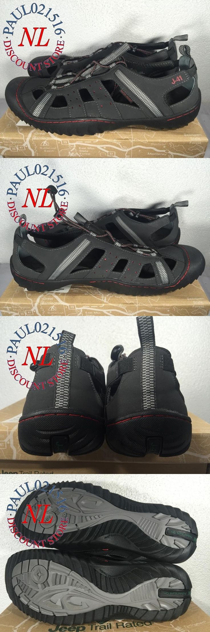 Men 159144: *New* Men S Jeep J-41 Groove Ii-All Terrain Hiking Water Shoes ~ Black Red ~ 13 -> BUY IT NOW ONLY: $49.99 on eBay!