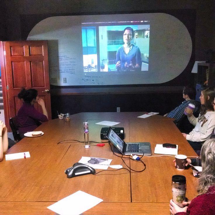 Participants listening to Microsoft's Rane Johnson's talk on women in technology!