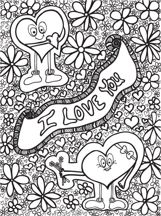 92 best Colour Art Therapy - Hearts And Love images on Pinterest ...