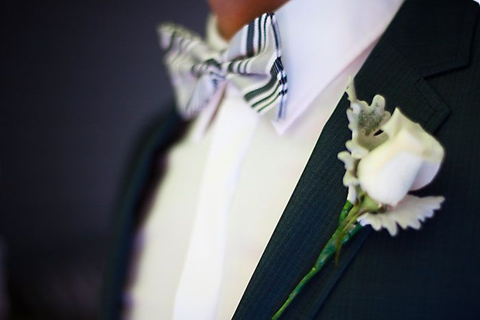 Bowtie + button hole #groom #bowtie #buttonhole #mens #mensstyle PC: Akila Berjaoui + Mim Connell